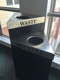 Love these trash cans! What a neat way to recycle. They are all over the dorm!