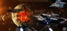 STAR CITIZEN sci-fi spaceship game space battle h wallpaper   2999x1399   167655   WallpaperUP