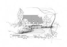 Quick And Easy Landscaping On A Budget - House Garden Landscape Architect Sketchbook, Architecture Drawing Sketchbooks, Architecture Sketches, Architecture Graphics, Landscape Architecture, Interior Sketch, Hand Sketch, Sketch Inspiration, Sketch Design