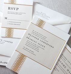 William Ashley presents the Belvedere Invitation by Dauphine Press. Printed by foil stamping and letterpress. ***Ink colours can be customized***