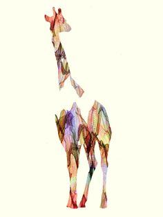 Giraffe Pattern Art Print by Andreas Lie | society6