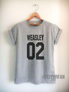 51c4189008db7 Harry Potter Shirt Ron Weasley Shirt Weasley02 Quidditch T-Shirt Draco  Malfoy
