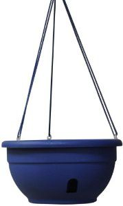 "Eezy-Gro Self-Watering Hanging Planter, 12-Inch, Blue by Eezy-Gro. $7.67. Water level float in the reservoir. Go longer between feedings. 100% Virgin Polypropylene. 12"" Self-Watering Hanging Planter that uses a unique wicking system, which draws the moisture up in to the soil allowing the plant to feed at it's own rate The separate water reservoir allows excess moisture to escape the soil, which helps prevent root rot and allows for aeration from below."
