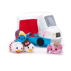 Ice Cream Truck with Micro Tsum Tsums Donald, Daisy,  Stitch, and Angel