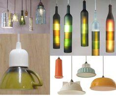 De la vaisselle ancienne devient luminaire ... A vous de créer votre lampe rétro idéale #diy #déco