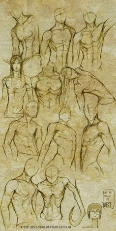 Male poses