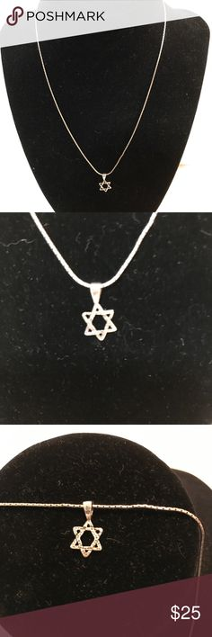 Silpada Sterling Silver Star of David Necklace Beautiful sterling silver Silpada Star of David necklace. Silpada Jewelry Necklaces