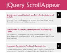 ScrollAppear – Content Appear on Scroll Plugin for jQuery  #jQuery #scroll #endlessScroll #infinitescroll