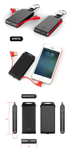 Super Mini Power Bank with built-in Charging Cable| Buyerparty Inc.