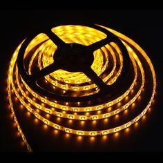 MADKING LED Flexible Strip Light 3528SMD DC12V 60LEDs/m Waterproof IP65 Yellow Light Color 5M/Roll www.facebook.com/hzqihuangco Led Light Strips, Led Strip, Led Flexible Strip, Strip Lighting, Light Colors, Facebook, Yellow, Linear Lighting, Bright Colours