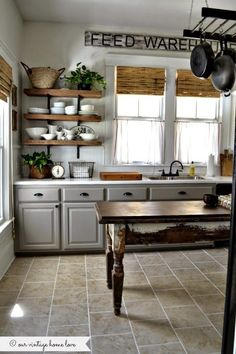 Uplifting Kitchen Remodeling Choosing Your New Kitchen Cabinets Ideas. Delightful Kitchen Remodeling Choosing Your New Kitchen Cabinets Ideas. Farmhouse Kitchen Cabinets, Kitchen Cabinet Colors, Farmhouse Style Kitchen, Painting Kitchen Cabinets, Kitchen Redo, Kitchen Styling, New Kitchen, Farmhouse Kitchens, Rustic Farmhouse