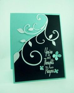 Die Cut another variation of two tone card. Awesome idea for an inlaid card! Cricut Cards, Stampin Up Cards, Pretty Cards, Cute Cards, Get Well Cards, Card Sketches, Paper Cards, Flower Cards, Creative Cards