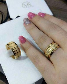 Mens Ring Designs, Gold Ring Designs, Gold Earrings Designs, Gold Jewellery Design, Necklace Designs, Gold Wedding Rings, Wedding Jewelry, Wedding Ring Bands, Bijoux Louis Vuitton