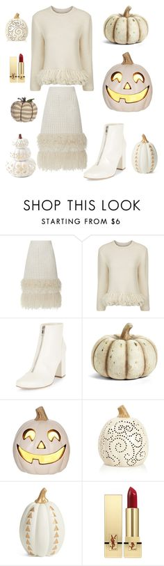 """""""Untitled #2793"""" by kotnourka ❤ liked on Polyvore featuring Spencer Vladimir, Vanessa Bruno, New Look, K&K Interiors, Levtex and Yves Saint Laurent"""