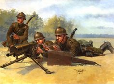 Polish MG team Poland Ww2, Invasion Of Poland, Panzer Ii, Army History, Military Pictures, French Army, Military Diorama, Military Army, Armed Forces