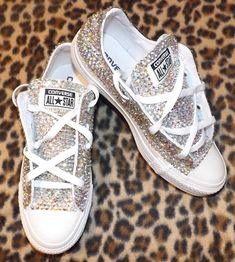Crystal Ox All Star Converse Sparkly Luxury AB In White All Sizes Available