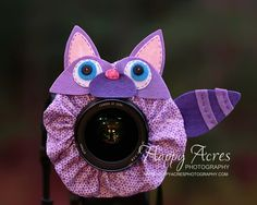 Lens Bling Rascally Purple Racoon  Ready to Ship by HappyAcresFarm, $22.00