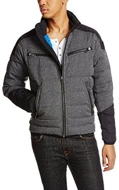 Diesel Men's W-Izumo-2 Jacket,  Charcoal, Large ❤ Diesel Men's Collections