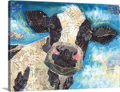 Lori Siebert Premium Thick-Wrap Canvas Wall Art Print entitled Cow Collage, None