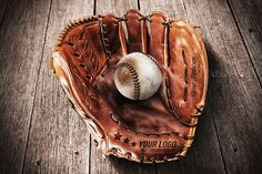 Baseball Glove - Mockup by VectorMedia on @creativemarket
