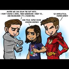 "9,025 Likes, 36 Comments - lordmesa-art (@lord_mesa) on Instagram: """"Super Dumb"" @hartleysawyer @tha_los @grantgust @cwtheflash ⚡️⚡️For all the comicbook nerds out…"""