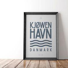 ⚓️ Good Old Kjøwenhavn. 🖼30x40 cm 199,- dkr. 🖼50x70 cm 329,- dkr 👉🏻 hjemhavn.dk . . #hjemhavn #kjøwenhavn #københavn #copenhagen #kbh #cph #plakat #grafiskdesign #danskdesign #interiør #bolig #boligindretning #nordiskehjem #nordic #danmark #denmark