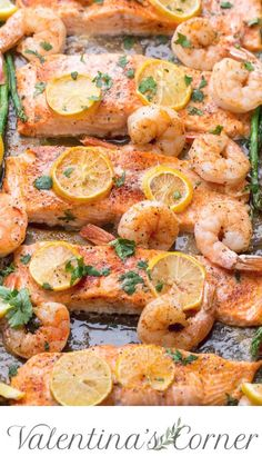 Merely baked shrimp salmon recipe. A fast repair .- Merely baked shrimp salmon recipe. A fast one-pot meal with baked salmon … – shrimp salmon recipe - Salmon And Shrimp, Butter Salmon, Shrimp And Asparagus, Meals With Salmon, Salmon And Scallops Recipe, Simple Salmon Recipe, Meals With Shrimp, Simple Baked Salmon, Lemon Pepper Shrimp