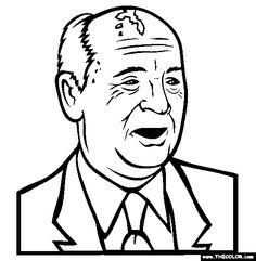 mikhail gorbachev coloring page soviet union