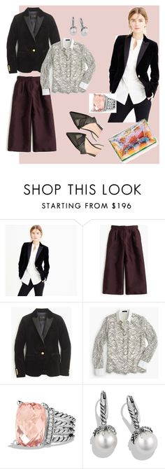 """""""Holiday Season Outfits November 2015"""" by bichonluvr ❤ liked on Polyvore featuring J.Crew and David Yurman"""