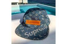 29825e84228 Baseball cap product shoot ideas · Kim Jones Gives a Better Look at the  Supreme x Louis Vuitton Denim Camp Cap