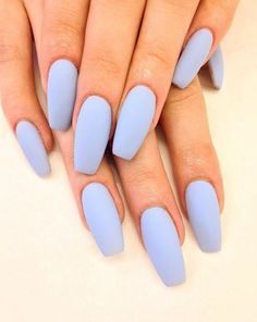 This matte blue-lavender nail polish is so gorgeous.