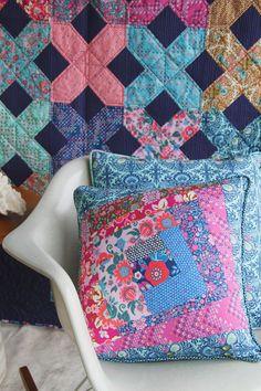 Pillows using Amy Butler's Soul Mate fabrics.