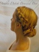Updo Hairstyles Tutorial: Double Dutch Braided Bun Updos