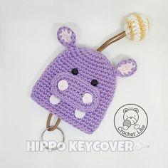 HIPPO KEY COVER ❤❤❤❤ #keycover #keyholder #crochet #amigurumi #crochetaddict #crochet_like #handmade #forsell #etsy#etsyshop