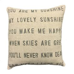 You Are My Sunshine Pillow – Sugarboo & Co
