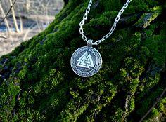 The Valknut Viking Pendant Sterling Silver by BerlogaWorkshop