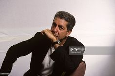Canadian singer-songwriter, musician, poet, and novelist Leonard Cohen at a photo shoot on July 18, 1988 in New York City.