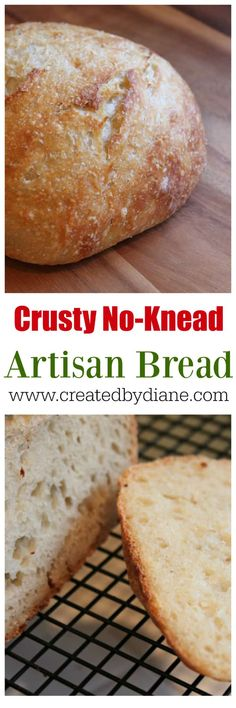 Crusty No Knead Bread Recipe, overnight bread dough www.createdbydian… Crusty No Knead Bread Recipe, overnight bread dough www. Knead Bread Recipe, Tasty Bread Recipe, No Knead Bread, Butter Recipe, Best Homemade Bread Recipe, My Best Recipe, Overnight Bread Recipe, Artisan Bread Recipes, Herb Bread