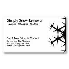 16 best snow plowing business cards images on pinterest business simple snow shoveling plowing removal card colourmoves