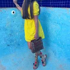 Basket Bags and pompom sandals are a MUST for 2017/18
