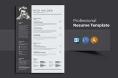 Resume/CV by Designsbird on @creativemarket