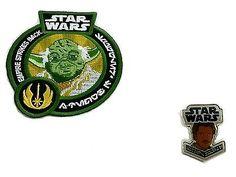 RARE Star Wars E.S.B. Smuggler's Bounty Exclusive Yoda Patch & Lando Pin!