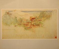 frank lloyd wright drawings | Reproduction Frank Lloyd Wright Drawing by indigoflea on Etsy