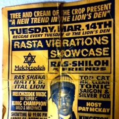 Very very old school flyer_Reggae