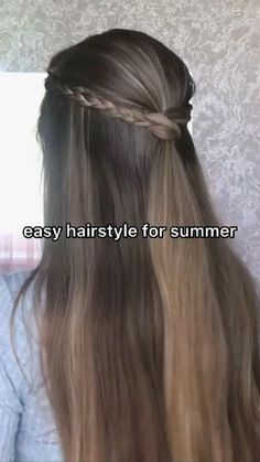 Half Updo Hairstyles, Back To School Hairstyles, Easy Hairstyles For Long Hair, Summer Hairstyles, Hairstyle For Girls Video, Good Hair Day, Aesthetic Hair, Cool Hair Color, Hair Videos