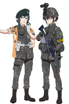 Anime Military, Military Girl, Comic Pictures, Manga Pictures, Guerra Anime, Character Art, Character Design, Female Soldier, Human Art