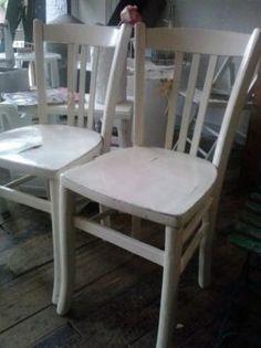 Drie houten brocante keuken stoelen - Stoelen - Marktplaats.nl