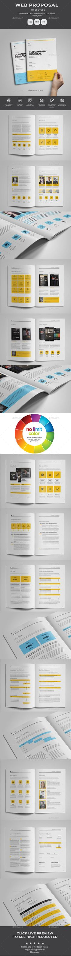 Indesign Business Proposal Template Template Pinterest - website proposal template