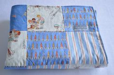 Minky Baby Patchwork Quilt - Blanket - Michael Miller Children at Play Collection by Sarah Jane