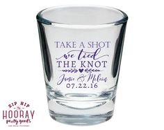 Take a Shot Wedding Favors Wedding Shot Glasses We Tied the Knot Shot Glass Personalized Shot Glasses Custom Shot Glasses 1514 by SipHipHooray